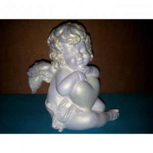 Скульптура ангелочек малая из гипса ск001